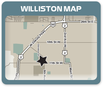 Williston Map
