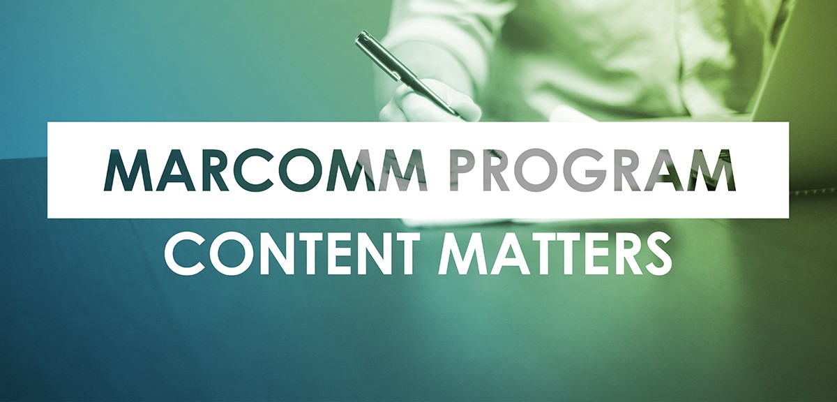 MarComm Program - Content Matters