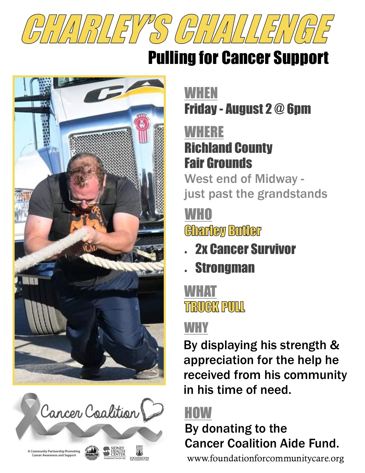 Charley's Challenge-Pulling for Cancer Support