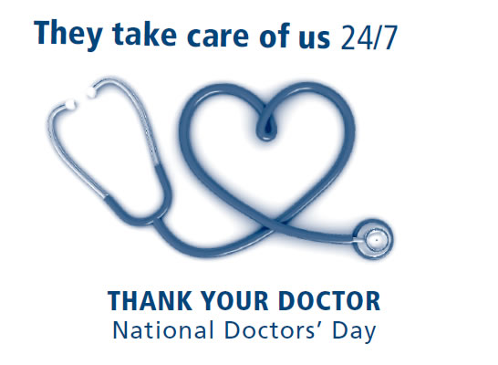 Recognize a Physician on National Doctors' Day - March 30th