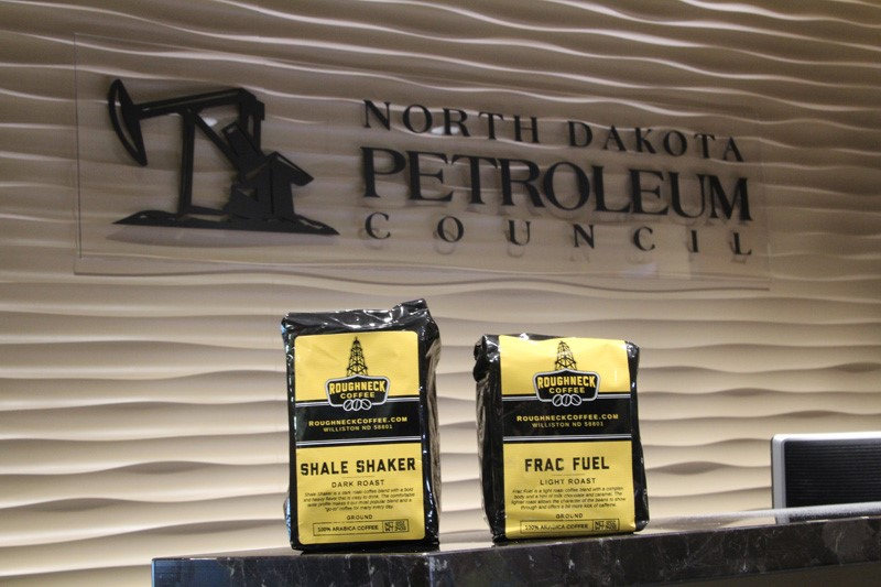 Roughneck Coffee bags in NDPC Reception