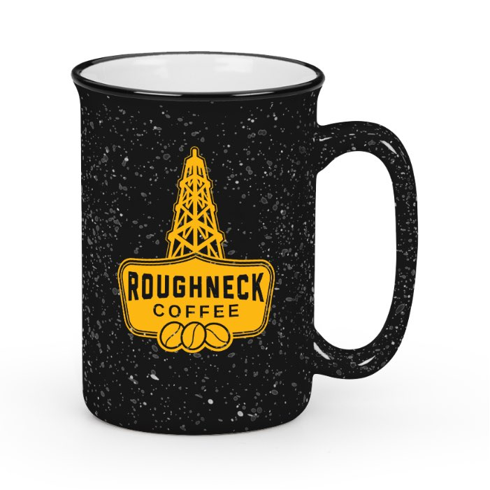 Campfire Mug, Black, RC Yellow Logo