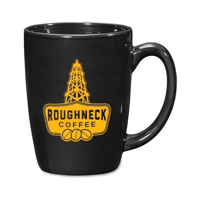 Coffee Mug, Black, RC Yellow Logo