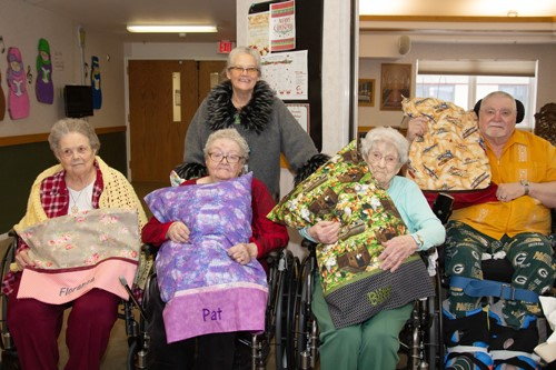Handmade gifts brighten Extended Care residents Christmas Season