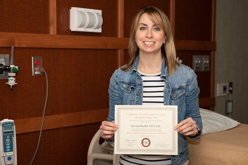 Radke earns certified infection control credential