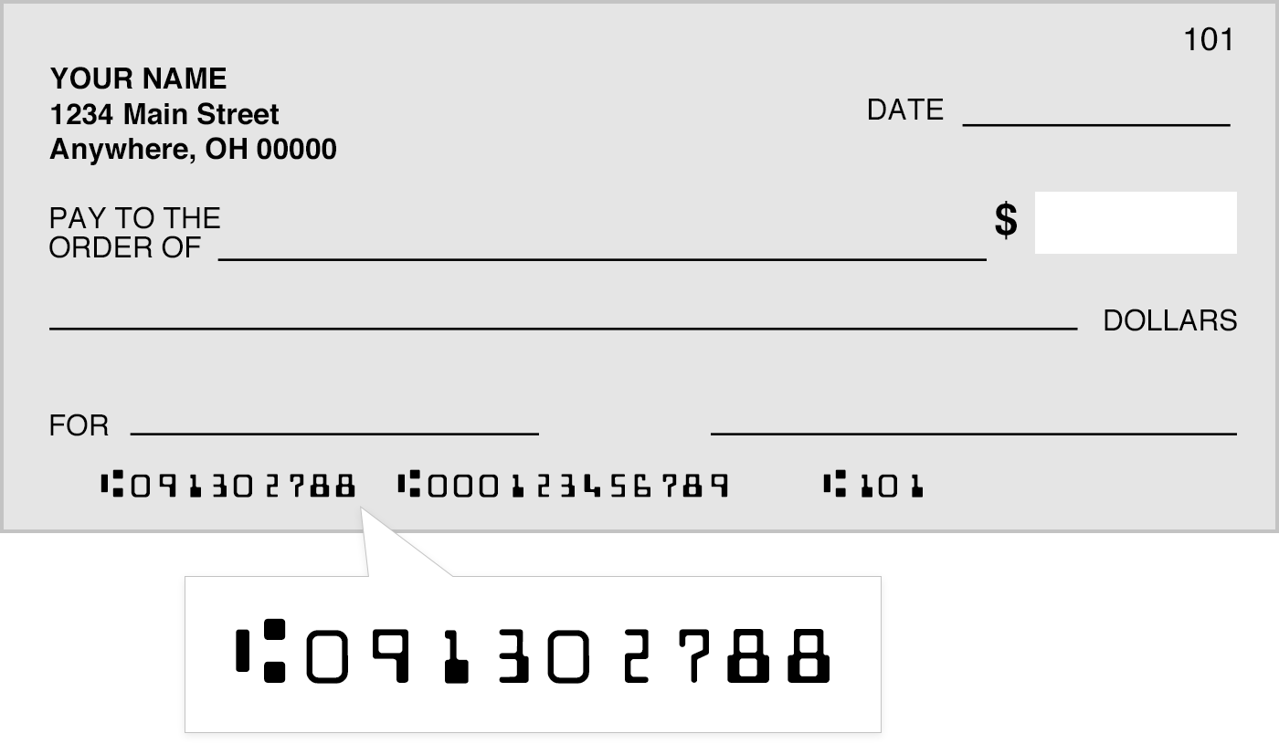 Sample Check Routing Number